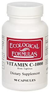 Ecological Formulas / Cardiovascular Research - Vitamin C-1000 (From Tapioca), 1,000 mg, 90 capsules