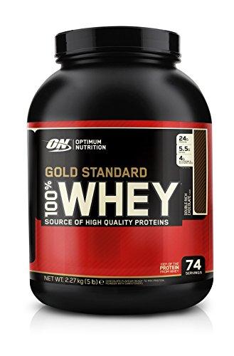 La nutrición óptima 100% Whey Gold Standard, doble Chocolate rico, 5 libras, 80 onzas