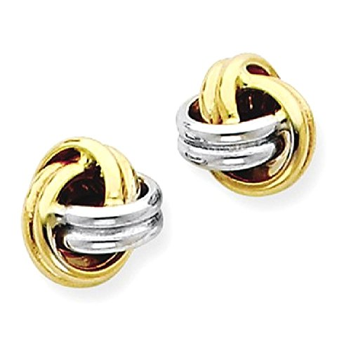 ICE CARATS 14k Yellow Gold Love Knot Post Stud Ball Button Earrings Fine Jewelry Gift Set For Women Heart by ICE CARATS (Image #1)