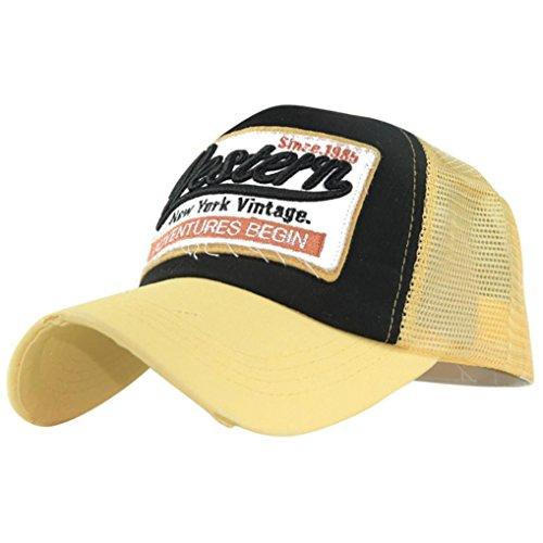 Donna Ricamo giallo Net hop Lettera Net Adeshop baseball Cappello Estate visiera buon Cappelli Hip mercato Esercizio casual Sport Berretto da Uomo a FUnqAwzx
