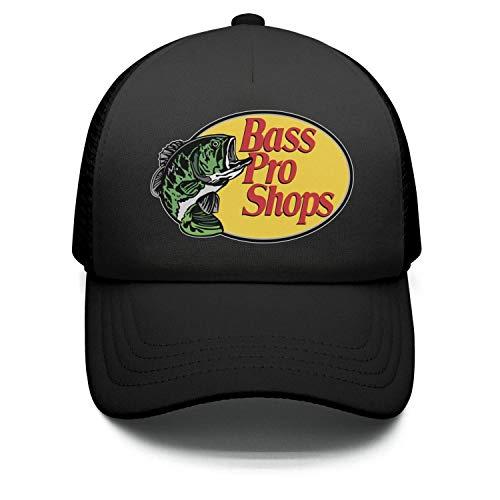 Teens Bass-Pro-Shops-Logo- Adjustable Cap Dad Black Trucker Baseball Hat Cap