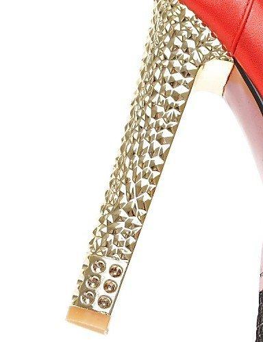 ShangYi Damenschuhe-High Heels-Hochzeit / Büro / Party & Festivität-Kunstleder-Blockabsatz-Absätze-Blau / Rosa / Rot Pink