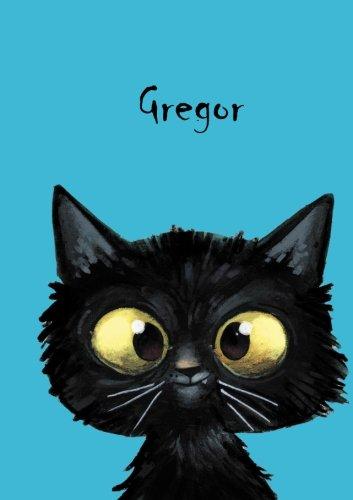 Coverfinish 80 blanko Seiten mit kleiner Katze auf jeder rechten unteren Seite eine .. Gregor: Personalisiertes Notizbuch DIN A5 Durch Vornamen auf dem Cover Über 2500 Namen bereits verf