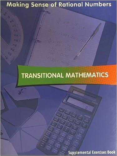 Transitional Mathematics, Supplemental Exercises Book, Making Sense