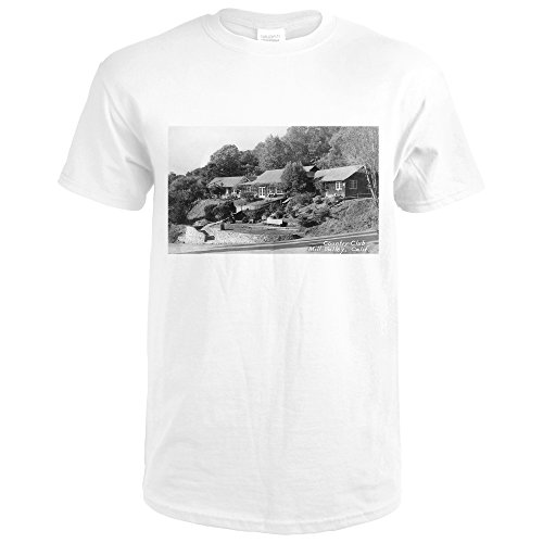 Mill Valley, California - Exterior View of the Country Club (Premium White T-Shirt X-Large) (Valley Club Country)