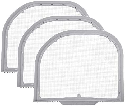 Nispira Lint Trap Screen Filter Replacement For LG Electronics Cloth Dryer 5231EL1001C 3 Filters