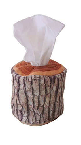 (Pbao Baby Carrier Environment Friendly Natural Log Pattern Soft Portable Roll Tissue Box Cover Holder)
