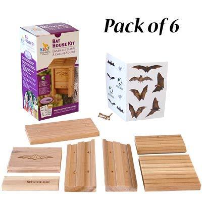 Club Pack of 6 Woodlink Bat House DIY Craft Kits by BestNest (Image #2)