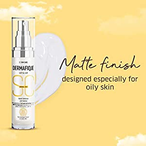 Dermafique Soleil Defense All Matte Sunscreen, SPF 50 for Normal To Oily Skin, Dermatologist Tested, Non-sticky Cream…