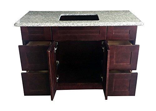 """New-Espresso-Shaker-Single-sink-Bathroom-Vanity-Base-Cabinet 48"""" Wide x 21"""" D ES-V4821DLR"""