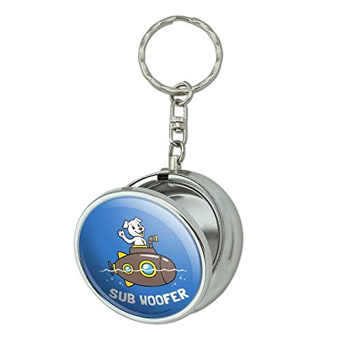 (GRAPHICS & MORE Sub Woofer Dog Submarine Funny Humor Portable Travel Size Pocket Purse Ashtray Keychain with Cigarette Holder)
