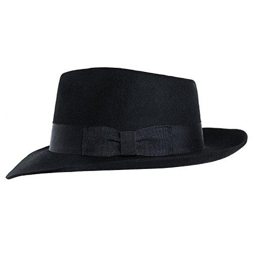 MJB2C - Michael Jackson Hat - Fedoras - Black - Small -