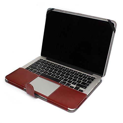 TECOOL MacBook Notebook Premium PU Leather Sleeve bag, Skin Case Cover for Macbook Pro 13