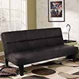 Microfiber Futon Folding Couch Sofa Bed w/ 6'' Mattress Sleep Recliner Lounger BK