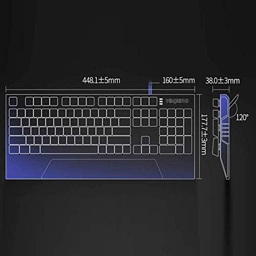 ZWFS Clavier Mécanique Professionnel Repose-Poignet Noir Arbre 104 Bit Clé Pleine Clé sans Conflit Clavier Filaire Élégant Gaming Keyboard avec Plusieurs Effets De Rétro-Éclairage