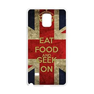Samsung Galaxy Note 4 Cell Phone Case White Keep Calm Geek On S0382135