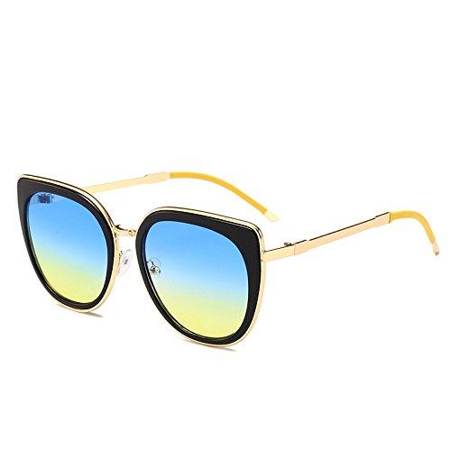 marco de para Back sol negro Pieza Packers azul mujer Gafas amarilla wzq7p