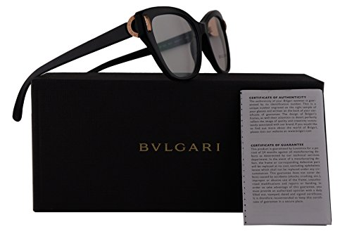 Bvlgari BV4122 Eyeglasses 54-17-140 Black w/Demo Clear Lens 501 BV 4122 - Www.bvlgari
