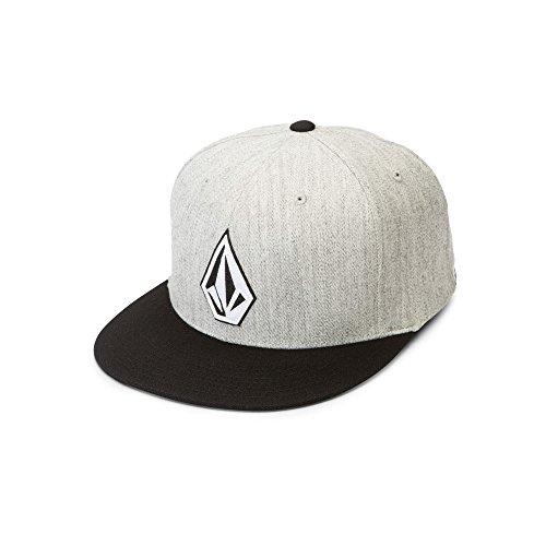 Volcom Men's Stone Stack Jfit Hat, Heather Grey, Large/Extra Large