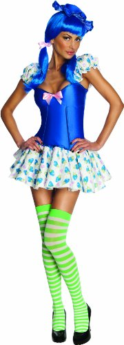 Secret Wishes Strawberry Shortcake Blueberry Muffin Costume, Multi, Medium (Girls Blueberry Muffin Wig)