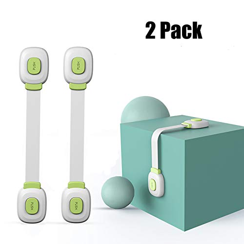 Baby Proof Safety Cabinet Locks Strong Authentic Adhesives for Baby Proof Cabinets, Drawers, Appliances, Fridge, Closet Seat, Door, Window, Toilet (Green)