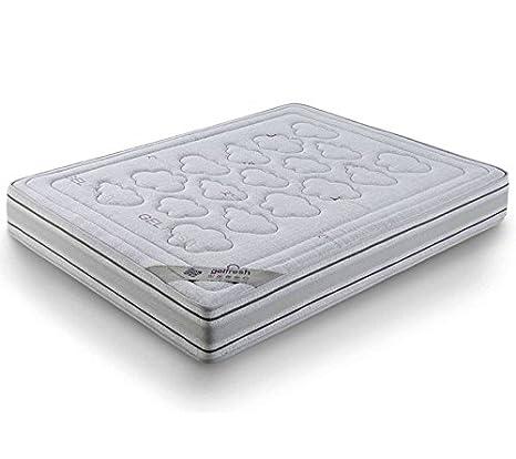 Mivis - Colchon de viscoelástica lavanda, tamaño 150/190 / 21 cm, color blanco: Amazon.es: Hogar