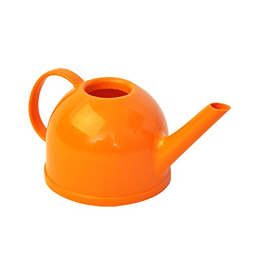 Calunce Lovely Teapot Shape 1.2L Candy Color Watering Can ,Orange