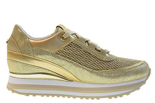 Glitternet Cuña Mujer Rsd27 Gold Interna Robin Oro Apepazza Con Zapatillas Zapatos Bajas wfaXq87