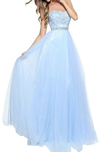 Tuell Lang Spitze La Rock Braut Abendkleider mia Linie A Himmel Kleider Blau Jugendweihe Partykleider Brautmutterkleider HqHt7ZErwx