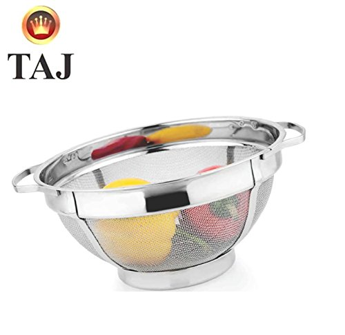 TAJ S.S Super Heavy Basket No.12 (Multi Purpose Strainer) 12 inch Basket