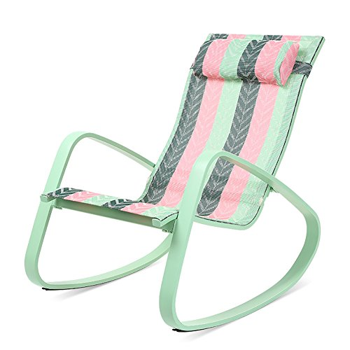 ZXL Chairs Outdoor Balcony Office Household Casual Portable Fashion Sun Loungers (Color : Three-color arrow pattern)