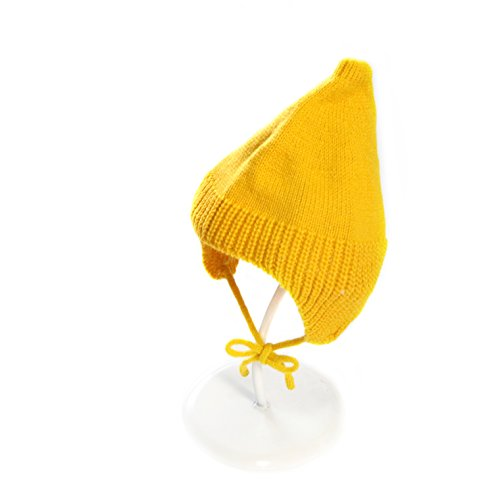 (Child Hat - Fashion Cute Child Babys Girls Boys Beanie Hat Knitted Caps Sharp Pointed Cap Winter Warm Children Hat (Yellow 18