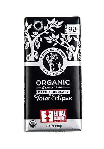 Equal Exchange Organic Total Eclipse Dark Chocolate (92%), 2.8 oz (Pack of 12)