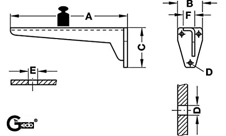 Stahl grau MIRA Gedotec Regalkonsole Metall Schwerlasttr/äger Winkel-Regaltr/äger Schwerlast-Konsole Tragkraft 150 kg Metall Winkelkonsole f/ür schwere Lasten /& Regale 2 St/ück Tiefe 330 mm