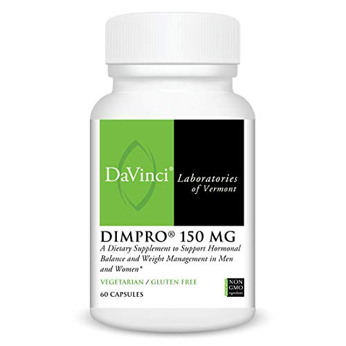 Davinci Laboratories - Dimpro 150 Mg, Dim Capsules (60), Natural Estrogen Blocker for Men and Women, 60 Count