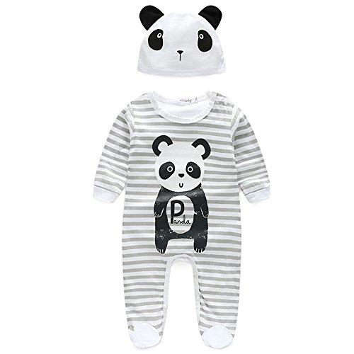 Baby Footie Organic Cotton Pajama Footed Long Sleeve Boy Girl Unisex Sleeper Set -