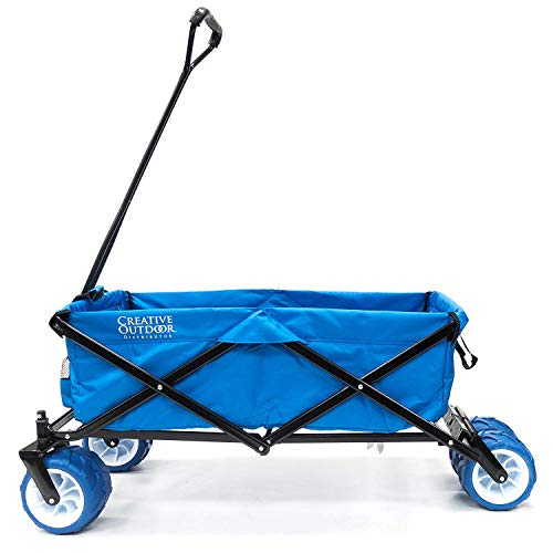 Creative Outdoor 900179-Cool CRO900179 All-Terrain Folding Wagon (Cool Blue), one Size,