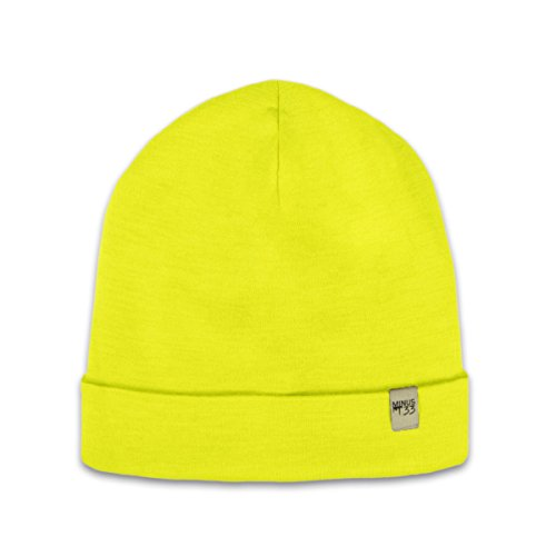 Minus33 Merino Wool Ridge Cuff Beanie HighVis One Size