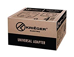 KRIËGER® Grounded Universal Plug Adapter for Most of Europe (type C) European - High Quality - 4 Pack