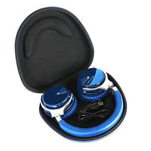 Headphone Hard Case for COWIN E7 Active Noise Cancelling Bluetooth Headphones by Khanka (Blue)