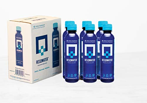 RESQWATER Proactive Recovery Enhanced Recovery Drink 8 Ounce (6 Pack) Celebration and Exercise Recovery Liver Support and Electrolytes