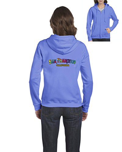 California Hoodie Tie Dye San Francisco Cali Womens Sweaters Zip Up -
