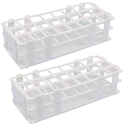 - Plastic Test Tube Rack - Buytra 2 Pack 24 Holes Lab Test Tube Rack Holder for 25mm Test Tubes, Detachable, White