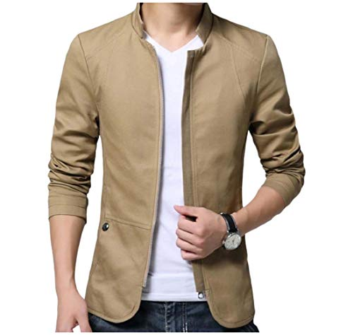 Casual Tall Khaki Coat XINHEO and Big Stand Winter Jacket Cotton Men Collar x0SPqZI0