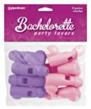 Pipedream Bachelorette Party Pecker Whistles, Purple, Pink (8 Pack)