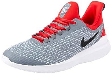 Nike Australia Renew Rival Boys Running Shoes, Cool Grey/Black-University Red, 3.5 US