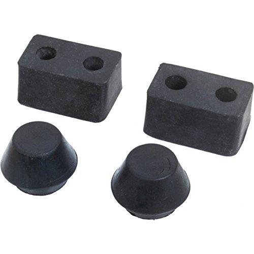 (MACs Auto Parts 28-26660 Model A Rumble Lid Rubber Bumper & Stop Kit - Upper & Lower - 4)