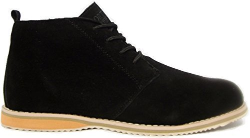 Mens Suede Leather Northwest Territory Casual Formal Boots Black