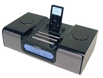 amazon com ihome ih5 clock radio and speaker system for ipod black rh amazon com Old iHome Models iHome Clock Radio