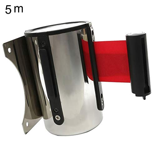 - LOadSEcr'Home Improvement Tools 5M Wall Mount Crowd Control Warning Retractable Belt Barrier for Bank Park Hotel Handyman Tool - Red 5M